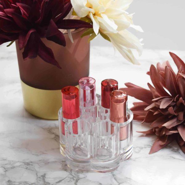 Beauty Organizer Display für Lippenstifte und Pinsel