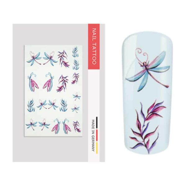 nailart tattoo libelle