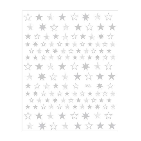 Nail Sticker Sterne Silber