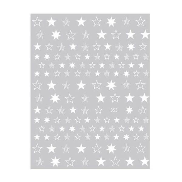Nail Sticker Sterne Weiss
