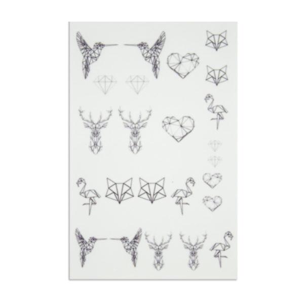 Nailart Tattoo Geometrie Frühling