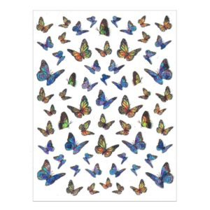 Nail Sticker Schmetterling Blau