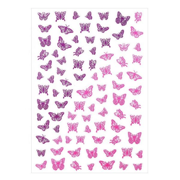 Nail Sticker Schmetterling Pink